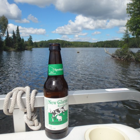 Boating and drinking Spotted Cow-only in Wisconsin