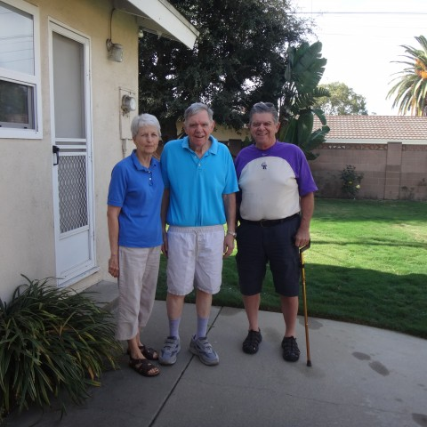 Lynne, Doug and Dick in Anaheim